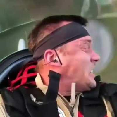 If you were wondering what's happening to the pilot during an air show... here it is.