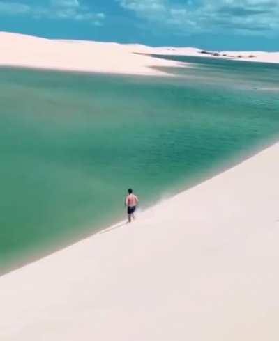 The Brazilian desert lagoons, Lençóis Maranhenses