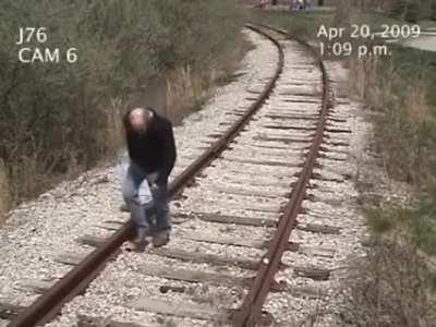 Man get hit by train