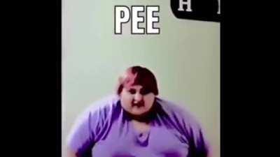 Haha fat bum bum go wiggle 🍑🤣😂🤣