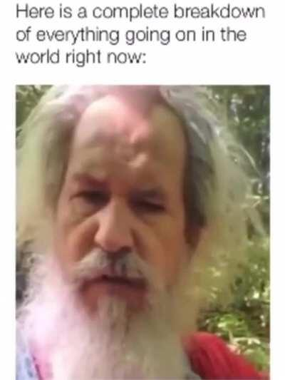 Guy is confused with the world