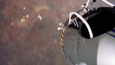 Felix Baumgartners legendary base jump from space