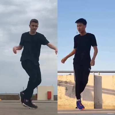 Choreo I made with a friend (I'm on the left, he's on the right). Hope you enjoy it 😀