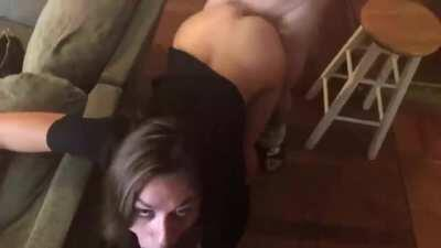 Ana Rose getting some dick before shooting a scene