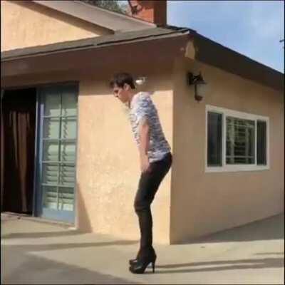 Backflip with heels