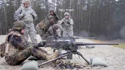 It's a machine-gun