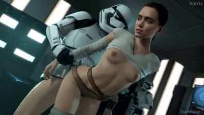 Rey fucked from behind (Varris, Lerico213) [Star Wars]