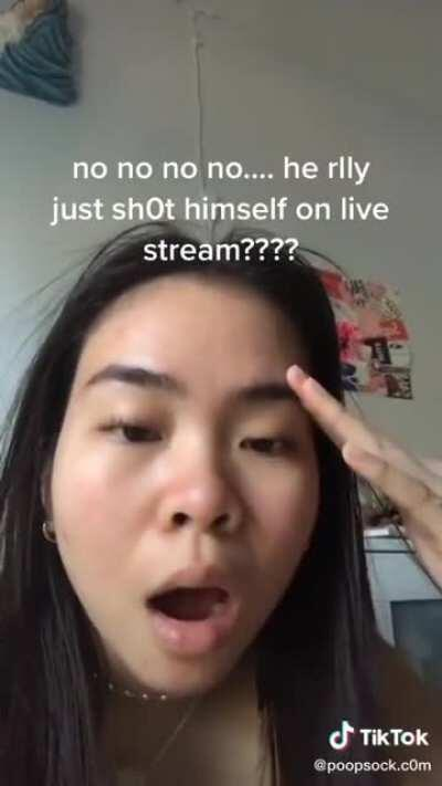 Barely caring about recent streamer who shot himself for tik tok (500k likes)
