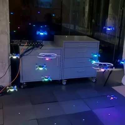 Engineers at Caltech have designed a new data-driven method to control the movement of multiple robots through cluttered, unmapped spaces, so they do not run into one another.