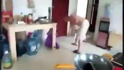 A video uploaded and later deleted by a Han Chinese man. In the video you can see him beating up three young girls, who cry out