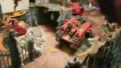New Blood Angel Chaptermaster Riding a Storm Raven.