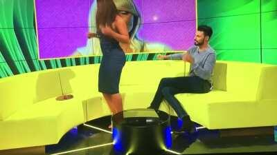 Twerking on TV in a tight dress couldn't possibly go wrong