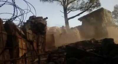 Indian Army targeting pakistani positions across LOC (Line of Control) at Rajouri Sector.