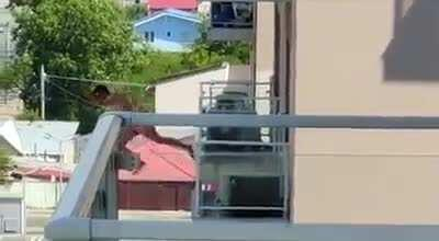 Naked dude jumps from fifth floor