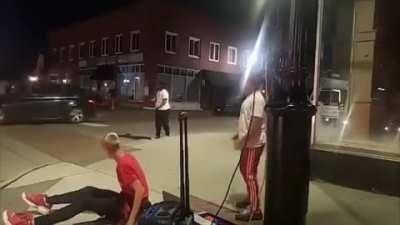 A 12 year old boy dancing suffered a concussion by a person who randomly punched him and fled the scene