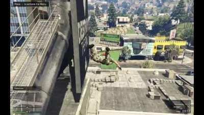 Hitbox of the curb in GTA.