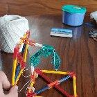 Tensegrity structure made with KNEX