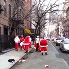 These Santas fighting really gets me in the holiday spirit. The music is a bonus.