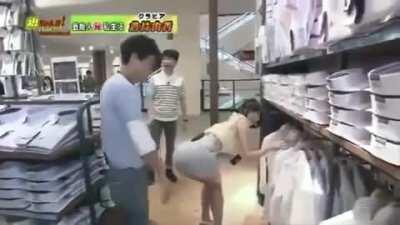 A Guy Slaps Yuka's Ass As She's Bent Over