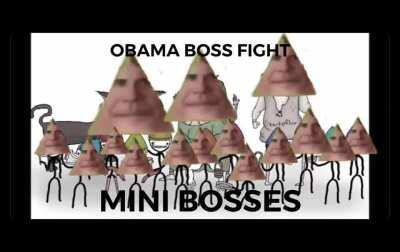Obama boss fight: mini bosses