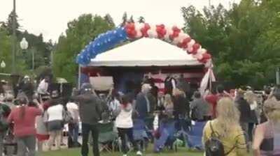 Sasha Baron Cohen vs Gun Rally radicals at Washington State!