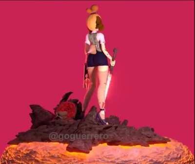 Isabelle (animal crossing/doom crossover)