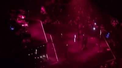 That time in toronto when a random got on the stage and Abel starting dancing with him