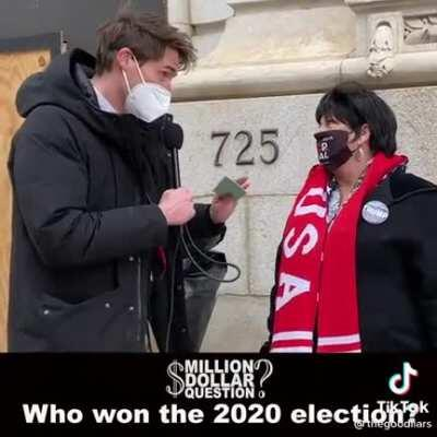 Who won the election? The correct answer wins you 1 million dollars!