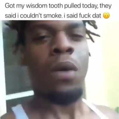 When you hate edible and can't skip a few days smoking