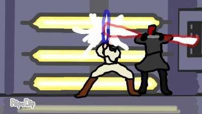 A FlipaClip animation I made of Obi Wan vs Darth Maul.