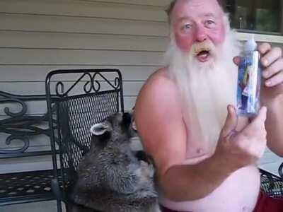 HMF while I talk Hannah Montana with this fatass raccoon