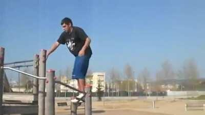 WCGW doing a backflip in a children's playground?