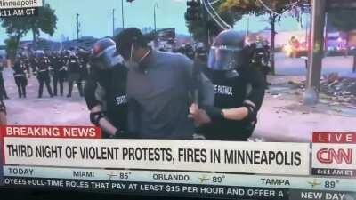 Minneapolis police just arrested CNN reporter Omar Jimenez live on air even after he identified himself.