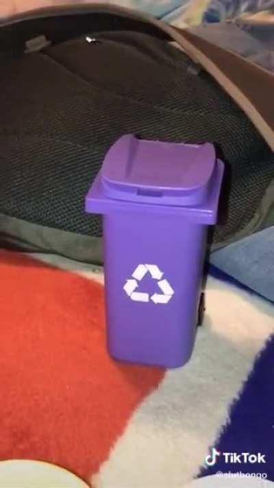 Wcgw putting a hamster in the recycling
