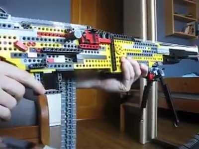 This Lego Blowback Machine Gun