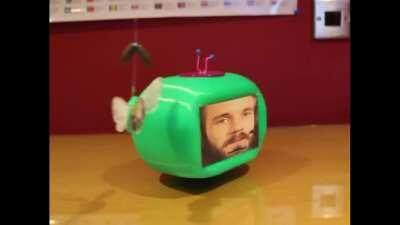 Took 3 weeks, over 40 hours of work and a really awkward conversation with my dad but here's my remote controlled robotic cocomelon intro. (Repost because Pewds didn't see the last one despite getting 800 awards and being top 3rd this month)
