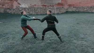 Performers recreate authentic fighting moves from medieval times.