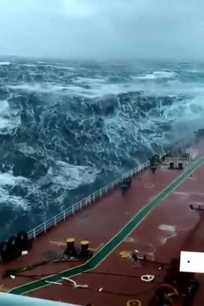 Stormy waves at sea