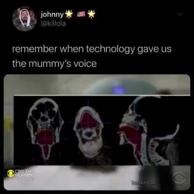 Mummy voice recreated