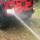 so much for washing the jeep.