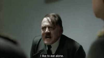 Hitler hates lunchtime meetings