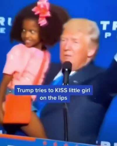Trump creeping out this little girl