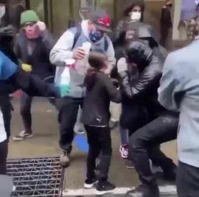 9 Year Old Maced in Seattle Protests