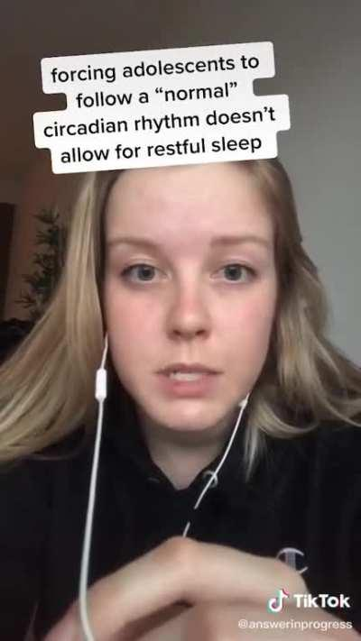 She has an interesting point about Sleep