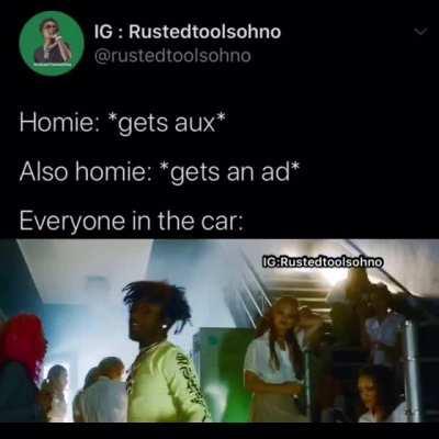 He ain't got no money
