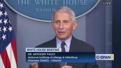 Dr. Fauci stuffing Trumps entire administration in a locker