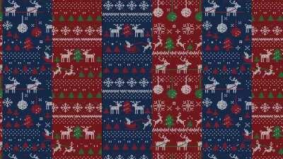 I created a couple of Holiday Zoom Backgrounds for a Ugly Zoom Background Competition at Work. Here's the second Ugly Sweater Background