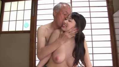 Grandpa likes young big boobs