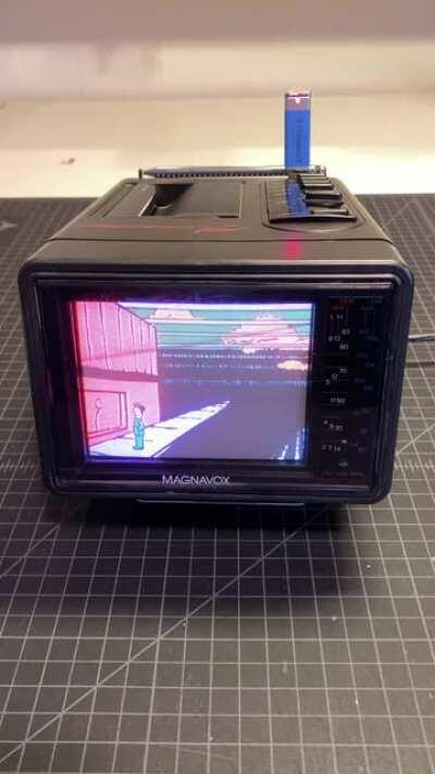 Vintage Portable TV with USB Pi Video Looper