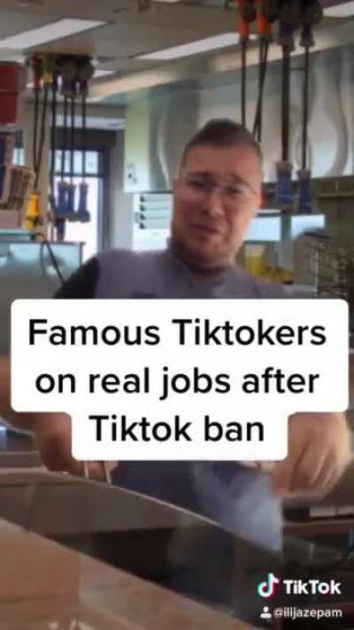 Tiktokers after Tiktok ban